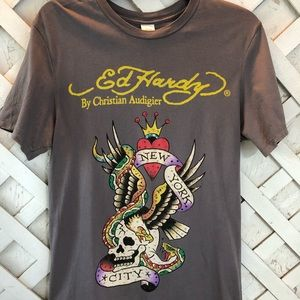 Ed Hardy Skull Embellished Shirt